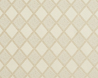 Ivory Diamond Damask Upholstery And Drapery Grade Fabric By The Yard | Pattern # F583