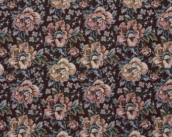 Green And Red Floral Tapestry Upholstery Fabric By The Yard | Pattern # F656