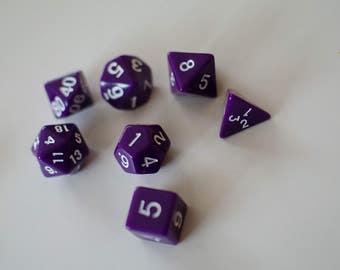 Purple Polyhedral Dice Set
