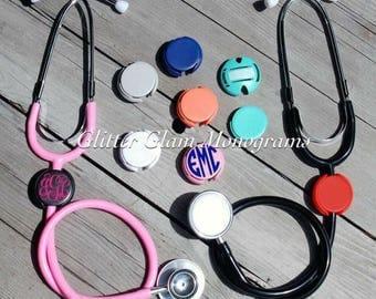 Stethoscope Name Tag ID Covers Graduation Gift, Nursing School, Monogram Stethoscope, Personalized