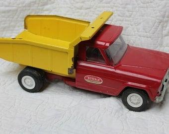 1960's Tonka Dump Truck Red and Yellow