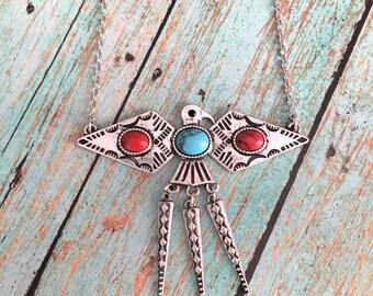 Thunderbird Necklace, Native American Inspired Necklace, Turquoise Necklace, Tribal Necklace, Native American Inspired Jewelry, Southwest
