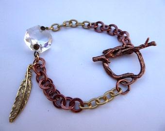 Feather Chain Bracelet
