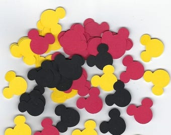 Mickey Mouse Confetti, Mickey Mouse Birthday, Mickey Mouse Decor, Mickey Mouse Theme Party, Mickey Mouse Die Cuts, Mickey Mouse Party,