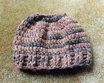 Messy Bun Hat / Ponytail Hat