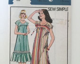 Easy summer dress pattern, Style 2280, flared dress, pockets in side seam, used, complete, size 14, bust 35""