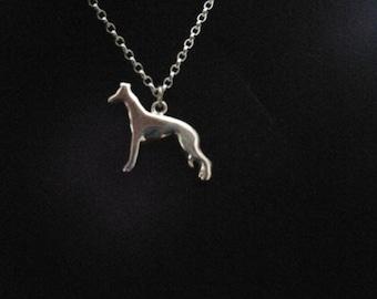Sterling silver whippet pendant
