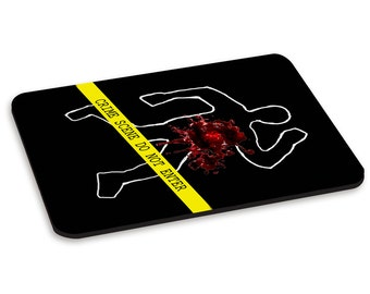 Crime Scene Do Not Enter PC Computer Mouse Mat Pad