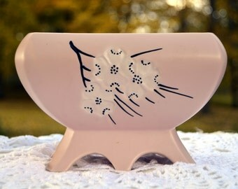 McCoy Pink Planter With Dogwood Flowers