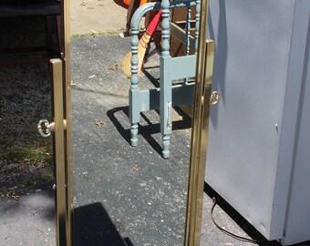 Beautiful Koch brass full length floor mirror