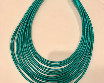 Vintage Teal Ethnic Necklace