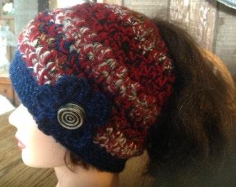 Pony Tail Hat, Ponytail Hat, Messy Hair Hat, Messy Bun Hat, Crochet Womens ponytail hat