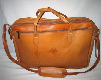 Vintage Los Angeles Lakers Genuine Leather Briefcase Attache Made in Columbia
