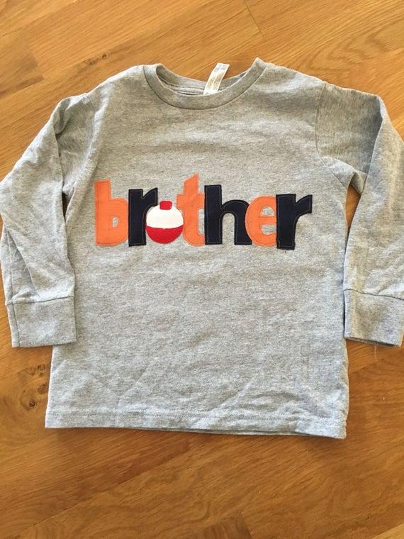 brother fishing bobber shirt, sibling fishing birthday shirt, the big one birthday sibling brother shirt