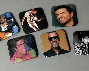 Fridge Magnets, George Michael, Faith, Freedom, LGBT Pride, Custom Magnets, Gay Gifts, Magnet Set