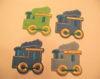 TRAIN APPLIQUE,CHOO Choo Train Iron On Applique,Sewing Item,Kids Clothing Item,Sewing Notion,Juvenille Train Patch,Locomotive Applique