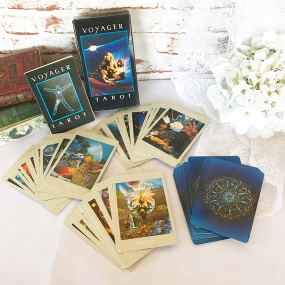 Vintage 1984 Voyager Tarot Cards Deck Set + Book, Astrology, Collectable, Retro, James Wanless Ken Knutson
