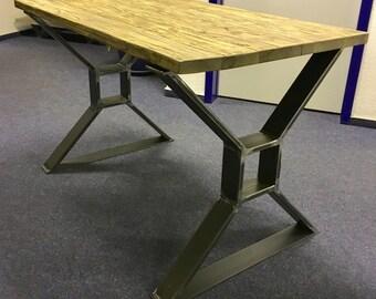 2 set table kufen table leg table steel square B700