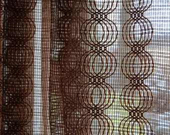 70s translucent curtains, two pieces