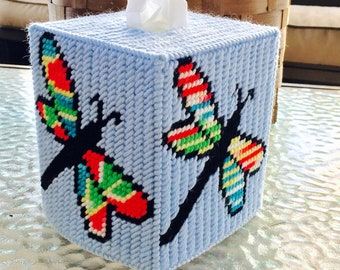 Bright Colors Dragonfly Tissue Box  Cover