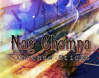 Nag Champa - Scented Incense Sticks - Incense Sticks - 20 Incense Sticks - Ritual Incense - Nag Champa Stick Incense - Frangipani Sandalwood