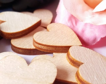 Blank Wood HEART Confetti or BUTTERFLY Confetti, Table Decor, Parties, Events, Weddings
