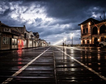 An amazing shot of the boardwalk after a storm.