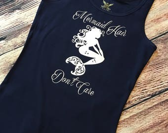 Adult Mermaid Hair Don't Care Tank top