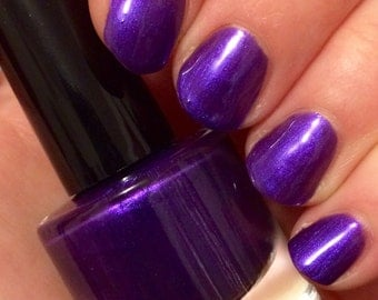 SALE Perfect Purple (15mL) ~ Indie Handmade Nail Polish 5-Free Glitter Holographic Lacquer