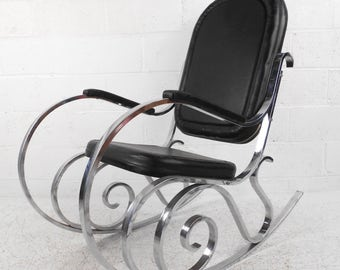 Chrome Rocking Chair Etsy