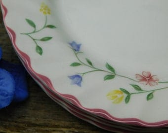 Set of 5 Vintage Johnson Brothers Summer Chintz Bread and Butter Plates