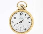 10K Gold filled Railroad Pocket Watch