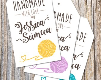 Handmade With Love Custom Tag - Digital File