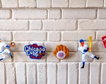 Sports Garland, Baseball Garland, Cubs Fan Garland