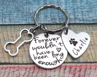 Pet Memorial Necklace, Loss of family dog, Pet loss Gift, Death of pet gift, Custom Pet Key Ring, dog memorial key ring, dog jewelry