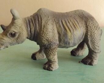 Rhinoceros Figurine, Rhino Figurine, Zoo Animals
