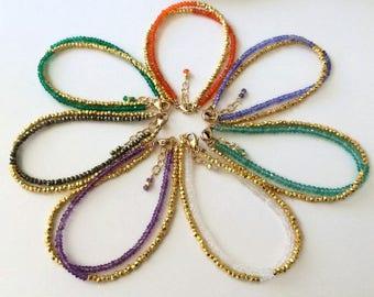 Boho Summer Bracelet-Her Summer Bracelet-Best Aunt Ever Gifts-Goddaughter Jewelry-Bestfriend Bracelets-Thin Gold Bracelet-Teenage Girl Gifts