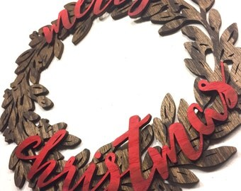 Laser Cut Christmas Wreath