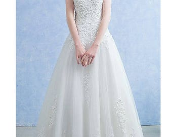 Lace Wedding Gown, Lace Wedding Dress, Lace Bridal Gown, White Bridal Gown, Wedding Dress, Dress, Elegant Wedding, Open Back, Low Back