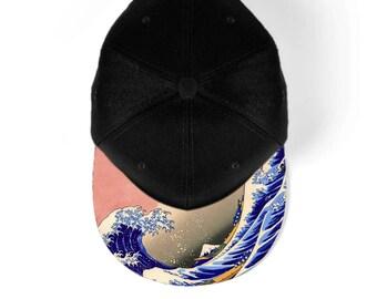 Great wave off Kanagawa snapback hat, baseball hat, cap 7M004A