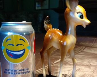 Free Shipping:  Figurine, Bambi Deer Hard Plastic, Hong Kong