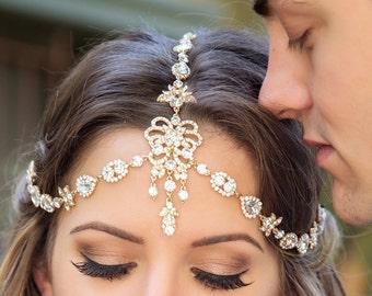 Bohemian Bridal Headpiece, Swarovski Crystal Hair Accessories, Wedding Headpiece, Wedding Headband Bridal Hair Accessories Wedding Hair H240