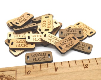 Product Tags - Customized with your text - 0.5 x 1 Inch - laser cut and engraved
