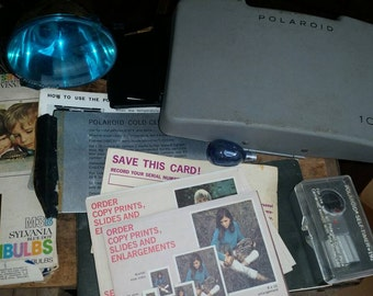 Polaroid 104 Land Camera items
