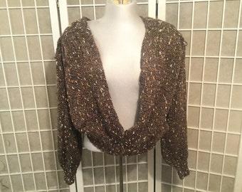 Vintage Metallic Sweater 1980s One Size
