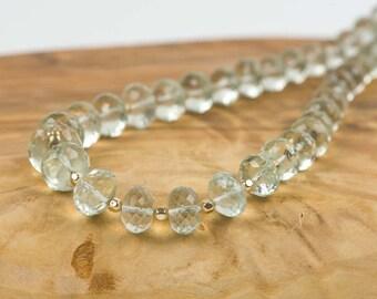 Green Amethyst Necklace, Natural Gemstone Necklace, Handmade Gemstone Jewelry, Gemstone necklace, Handmade Jewelry, Gemstone Jewelry