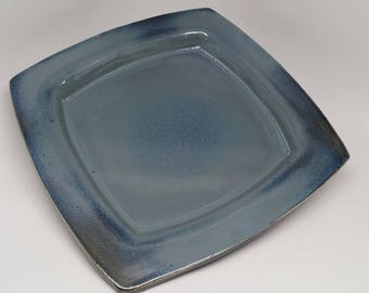 Beautiful stoneware square plate ready to ship