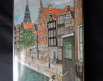 "Tin Box  Biscuit Factory ""Patria"" Amsterdam Holland Canals Houses"