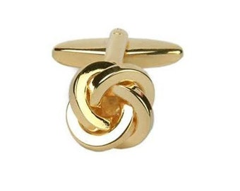 Classic Gold Tone Entwined Knots Formal Wear Cufflinks Cuff Links Free Shipping