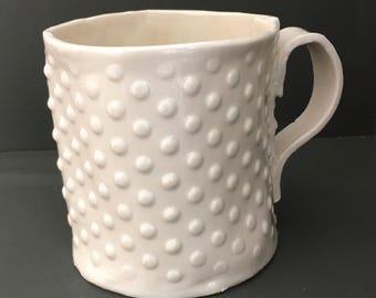 Textured porcelain mug 9cm / 3.5 inches tall